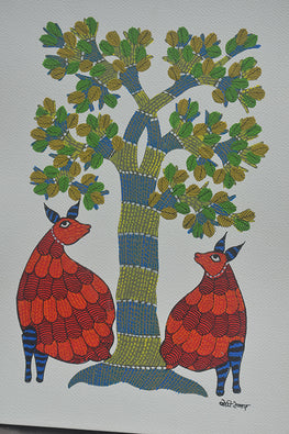 Chhoti Tekam Tribal Gond Painting-21