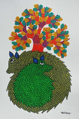 Chhoti Tekam Beautiful Trible Gond Art-25