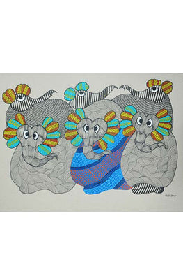 Chhoti Tekam Traditional Gond Painting-32