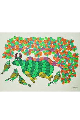 Chhoti Tekam Traditional Gond Painting-33