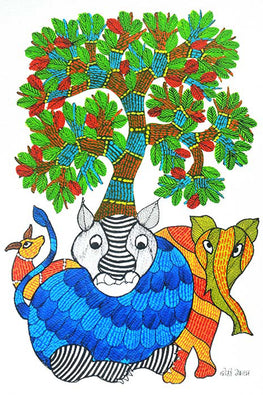 Chhoti Tekam Traditional Gond Art-45