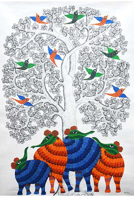 Chhoti Tekam Tribal Gond Art-49