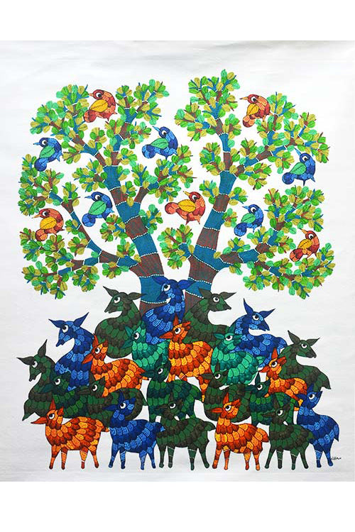 Chhoti Tekam Tribal Gond Painting-51