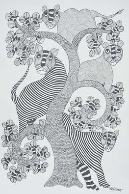 Chhoti Tekam Tribal Gond Painting-62