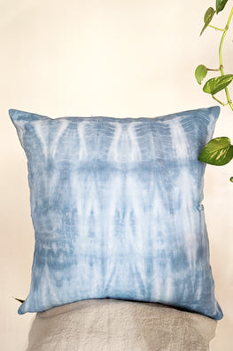 Okhai 'Midnight Sky' Pure Cotton Tie-Dye Cushion Cover (45.7 cms x 45.7 cms)