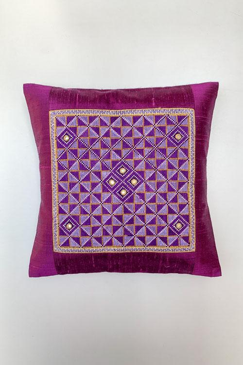 Shrujan Jat Garaasiya Embroidery Cushion Cover