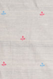 Chitrika-3 Leaves Buta Cotton Handloom Fabric Beige