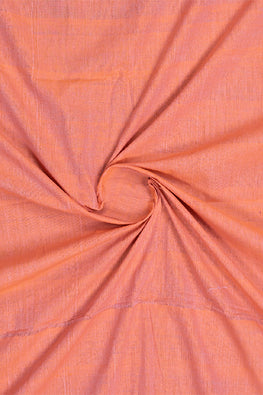 Chitrika-Nizam Border Cotton Handloom Fabric Orange