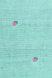 Chitrika-Jamdhani 3D Square Cotton And Handspun Handloom Fabric Sea Green