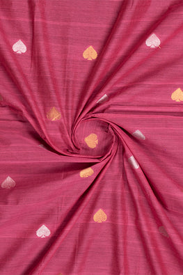 Chitrika-Jamdhani Pan Cotton Handloom Fabric Mauve