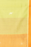 Chitrika Kuppadam 4 Square Buta Cotton Handloom Saree Lemon Yellow