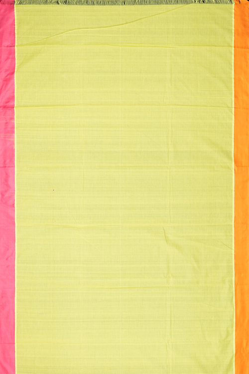 Chitrika 4 Square Buta Cotton Handloom Lemon Yellow Kuppadam Saree Online