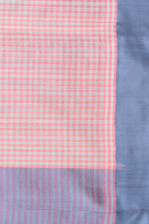Chitrika Kuppadam 5/5 checks Cotton Handloom Saree Pink