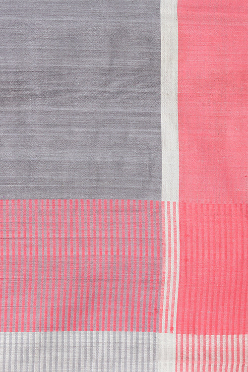 Chitrika Ballakammi Piano Cotton And Handspun Handloom Saree Grey Red