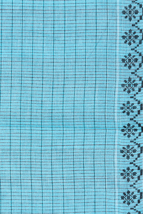 Chitrika Carnation Cotton Handloom Saree Blue