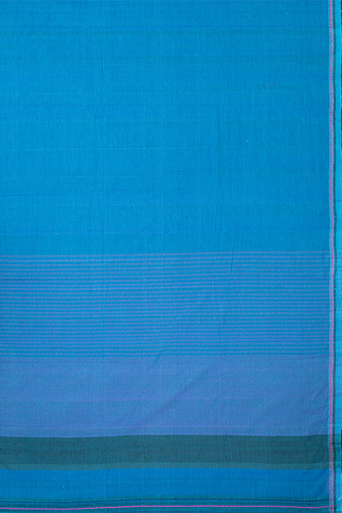 Chitrika Nizam Dobby Cotton Blue Handloom Saree Online