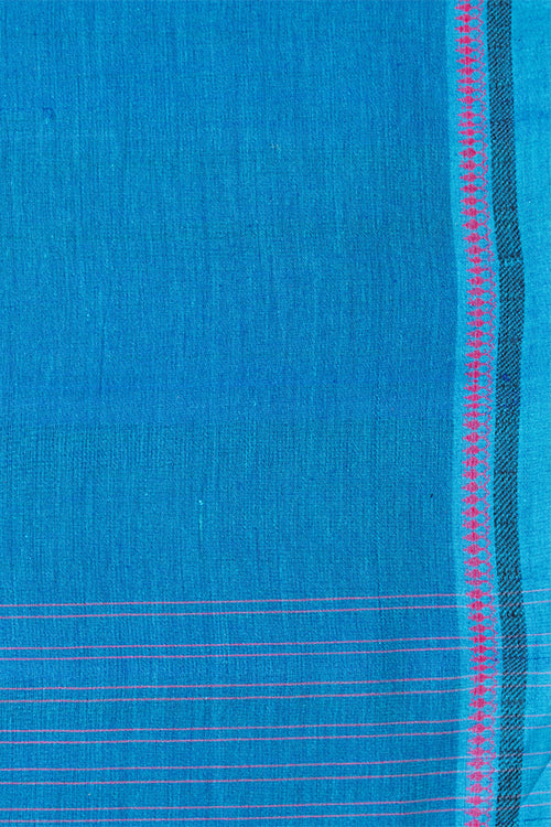 Chitrika Nizam Dobby Cotton Handloom Saree Blue