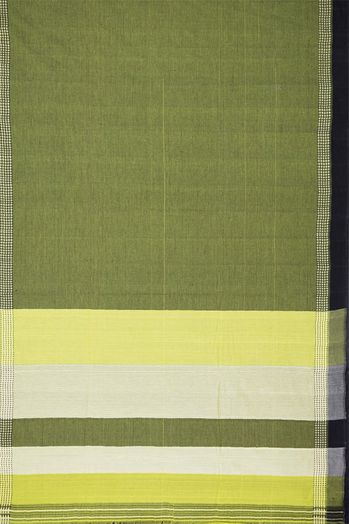Chitrika Square Plus Dobby Green Cotton Handloom Saree Online