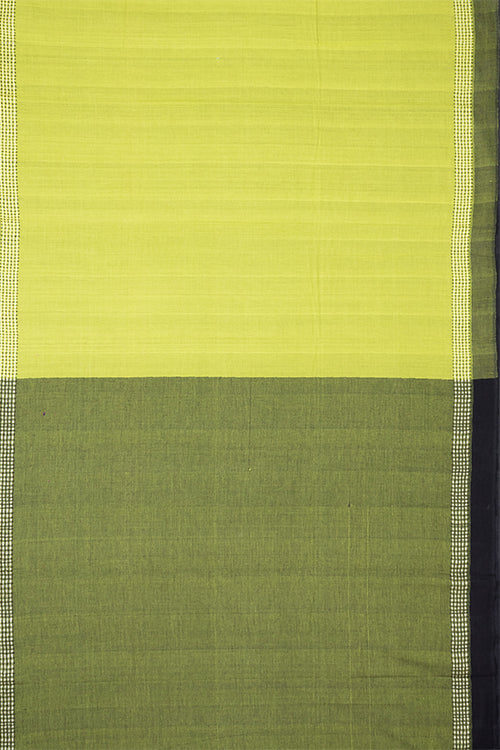 Chitrika Square Plus Dobby Cotton Handloom Saree Green