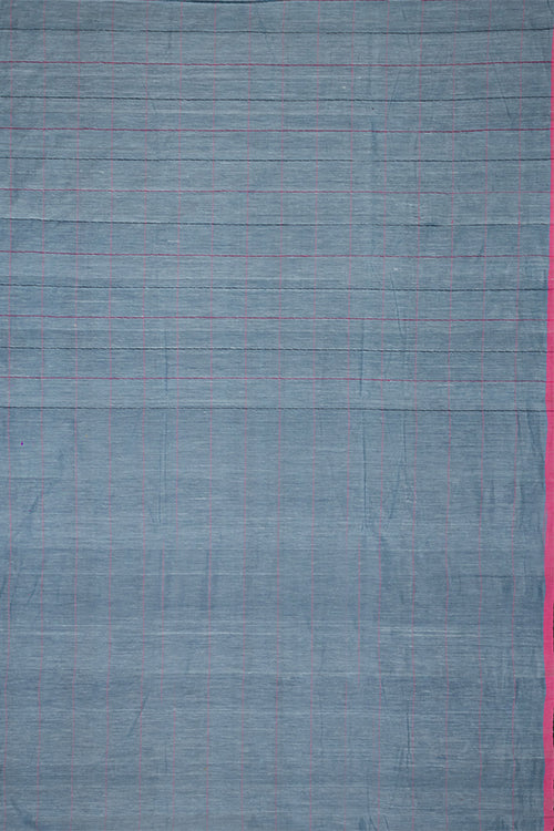 Chitrika Jamdani Flora( 100*ksf)19.80 Cotton And Handspun Handloom Saree Blue