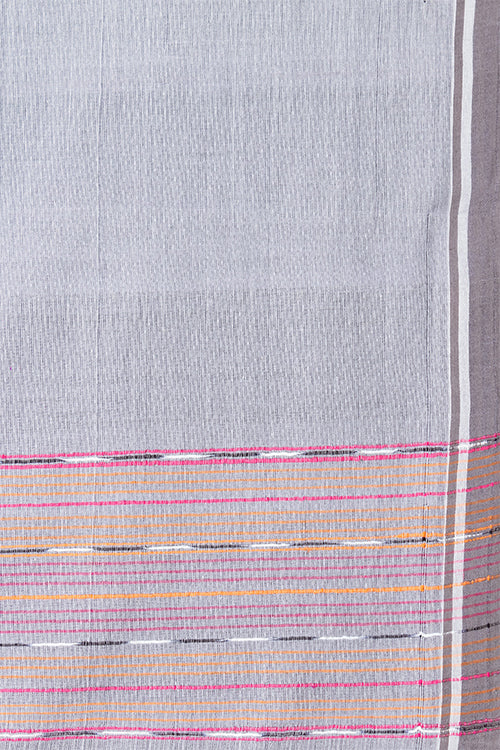 Chitrika Hank Art Plain Cotton Handloom Saree Grey