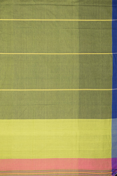 Chitrika Half Missing Green Plain Cotton Handloom Saree Online