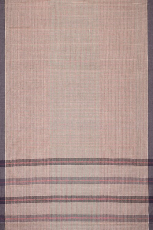 Chitrika Smart Checks Cotton Handloom Saree Beige