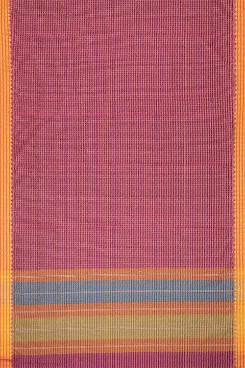 Chitrika Temple Touch Dobby Cotton Handloom Saree Dark Pink