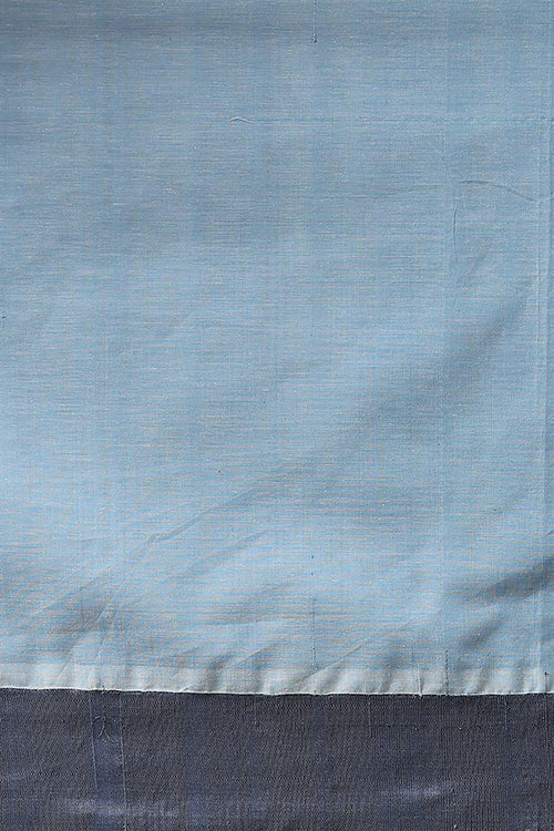 Chitrika Kuppadam 4 Square Buta Cotton Handloom Saree Light Blue