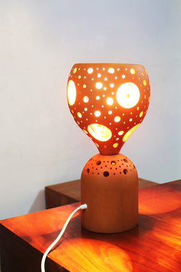 Craftlipi COCO Handcrafted Terracotta Traditional Table Lamp Online