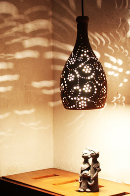 Craftlipi COCO XL3 Handcrafted Terracotta Ceiling Hanging Lamp Online