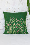 Okhai 'Elm' Hand Embroidered Cotton Handloom Cushion Cover