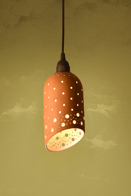 Craftlipi CYL SLICE Handcrafted Terracotta Ceiling Hanging Lamp Online
