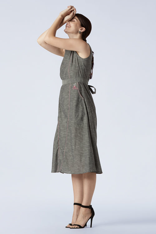 Okhai 'Cuckoo Story' Cotton Hand Embroidered Dress