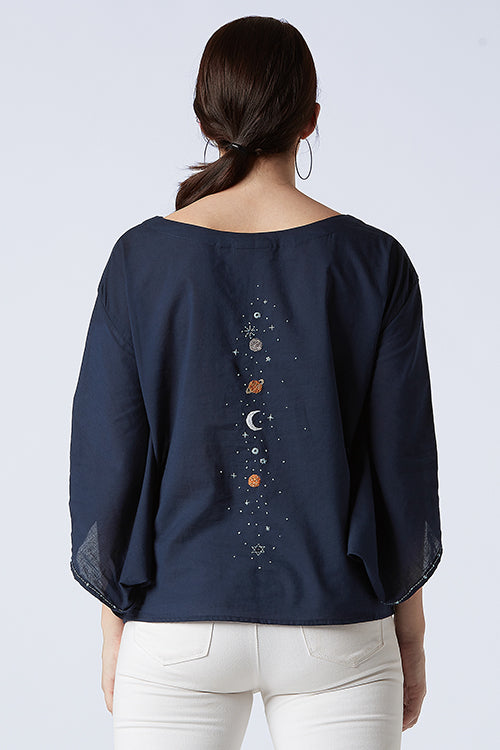 Okhai 'Starlight' Cotton Embroidered Top