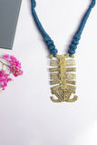 Brass Thread Matinee Necklace D11b