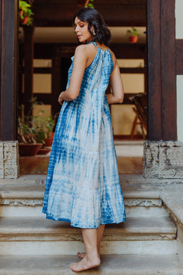 Okhai 'Shaam' Tie-Dye Pure Cotton Dress