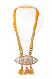 Miharu Brass Thread Matinee Necklace D1c