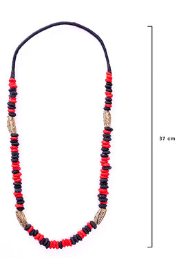 Miharu Brass Thread Opera Necklace D22a