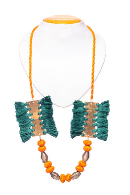 Miharu Brass Thread Matinee Necklace D35d