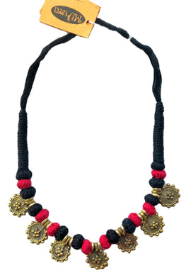 Miharu Brass Thread Choker Necklace D56i