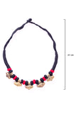 Brass Thread Choker Necklace D58d