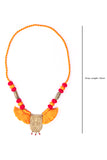 Brass Thread Matinee Necklace D59b