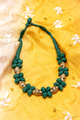 D61c Handmade Brass Thread Choker Dokra Necklace Online