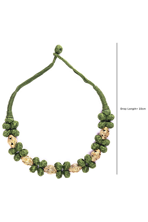 Brass Thread Choker Necklace D61d