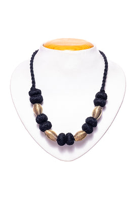 Miharu Brass Thread Choker Necklace D63c