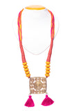 Brass Thread Matinee Necklace D69a