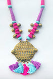 Miharu Brass Thread Matinee Necklace D7