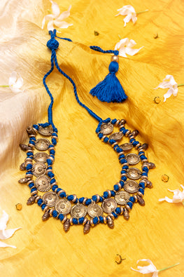 D83c Handmade Brass Thread Choker Necklace Traditional Online