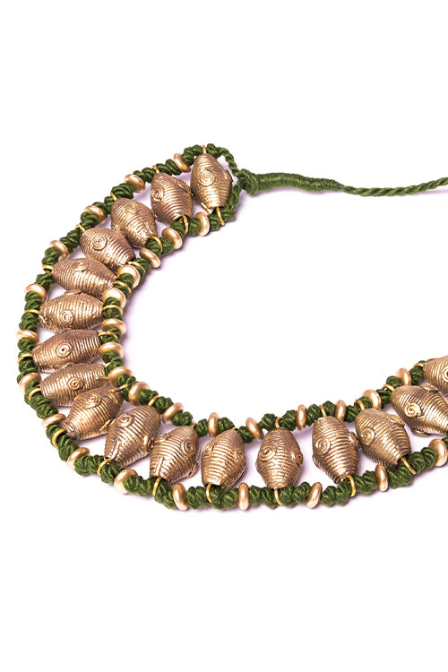 Brass Thread Choker Necklace D86